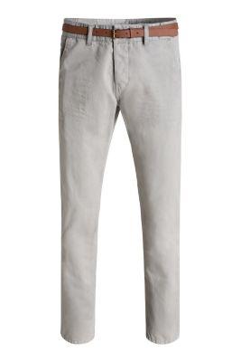 Esprit / Baumwoll-Chino mit Gürtel