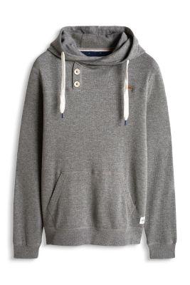 Esprit / Buttoned sweat hoodie