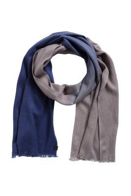 Esprit / Colour graduated cotton blend woven scarf