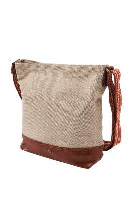 Esprit / Textil Schultertasche mit Leder-Optik