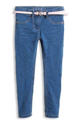 Esprit / Weiche Stretch Jeans mit Lackgürtel
