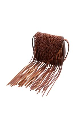 Esprit / Umhängetasche aus festem Leder