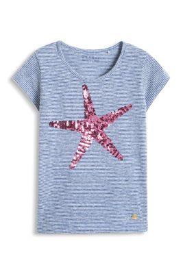 Esprit / Geringeltes T-Shirt mit Pailletten-Seestern