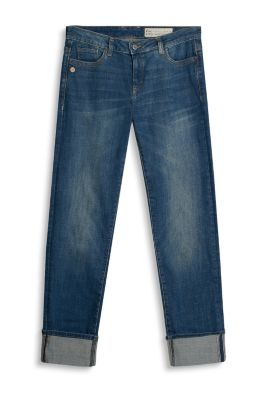 Esprit / Lässige Turn-up-Denim mit Stretch