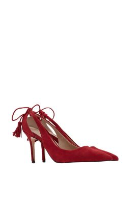 Esprit / Cut-Out Pumps aus 100% Veloursleder