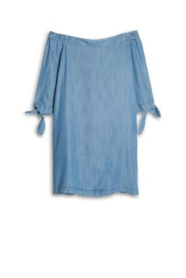Esprit / Off-Shoulder-Kleid im Denim-Look