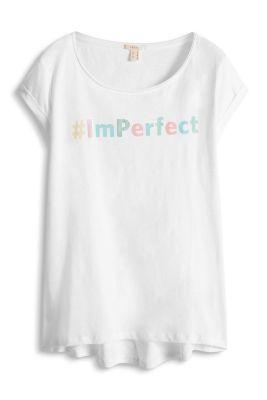 Esprit / Slub-Jersey-Shirt aus 100% Baumwolle