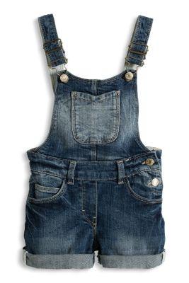 Esprit / Latz-Shorts aus weichem Stretch-Denim
