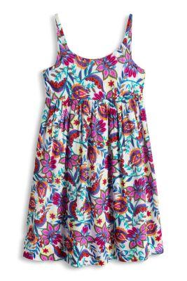 Esprit / Blød kjole med kulørt blomsterprint