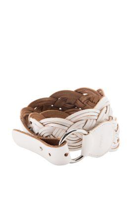 Esprit / Flecht-Ledergürtel mit Ringschließe