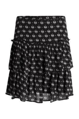 Esprit / Tiered mini skirt in a crinkle look