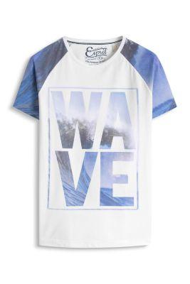 Esprit / Baumwoll-Mix Jersey T-Shirt mit Fotoprint