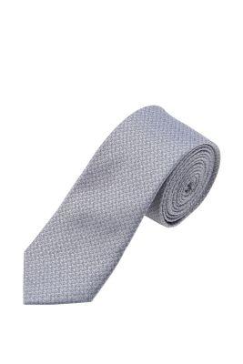 Esprit / Cravate chinée en jacquard, 100 % soie