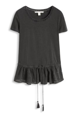 Esprit / Cotton top with peplum