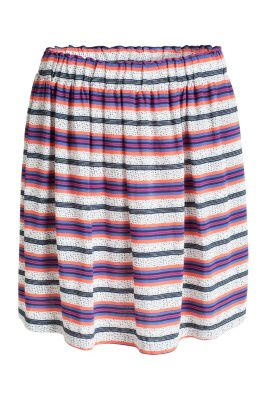 Esprit / Flared skirt in delicate crêpe