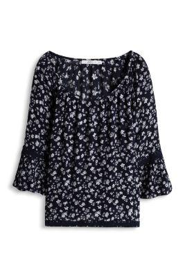 Esprit / Oversized Boho-Bluse mit Bordüren