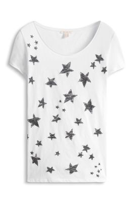 Esprit / Star print T-shirt, 100% cotton