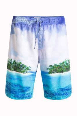 Esprit / Printed beach shorts with integrated briefs