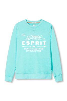 Esprit / Logo print, cotton blend sweatshirt