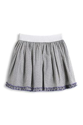 Esprit / printed skirt with a mesh underskirt