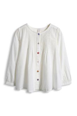 Esprit / Biesen-Bluse aus 100% Baumwolle