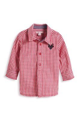 Esprit / Karohemd mit Stitching, 100% Baumwolle