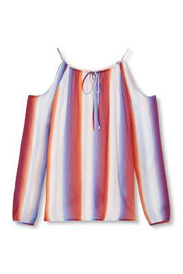Esprit / Fließende Cut-out-Bluse mit Streifen