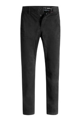 Esprit / Textured cotton five-pocket trousers
