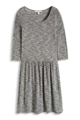 Esprit / Jersey-Stretch-Kleid in Melange-Optik