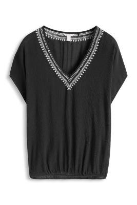 Esprit / Fließende Bluse in feinem Crinkle-Look