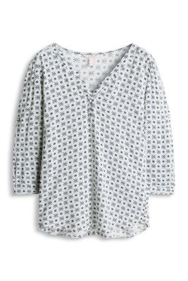 Esprit / Floaty, Henley-style blouse