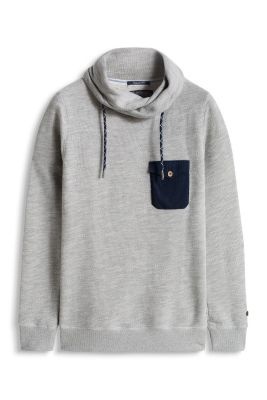 Esprit / Textured knit sweatshirt in blended cotton