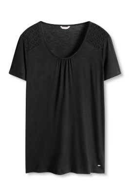 Esprit / Floaty stretch top with lace details