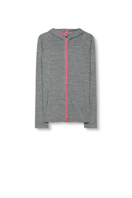Esprit / Sporty zip hoodie in functional jersey