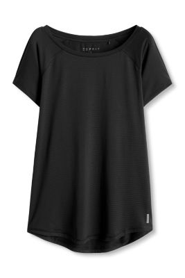 Esprit / Functional sport tee with textured stripes