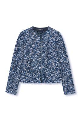 Esprit / Bouclé indoor jacket with zips