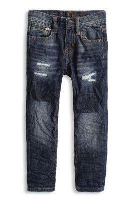 Esprit / Non-Stretch Jeans, unterfütterte Löcher