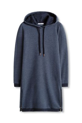Esprit / Sweat hoodie dress with zips