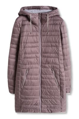 Esprit / Lightweight quilted coat with a hood