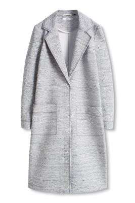 Esprit / Long coat in robust jersey
