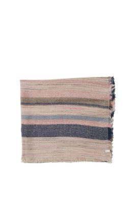 Esprit / Soft woven scarf with multicolour stripes