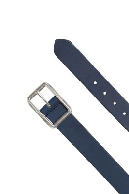 Esprit / Brushed leather belt with a logo buckle