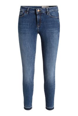 Esprit / Stretch jeans with frayed hems