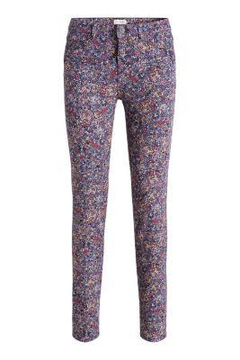 Esprit / Baumwoll-Stretch-Hose mit Blumen-Prinnt