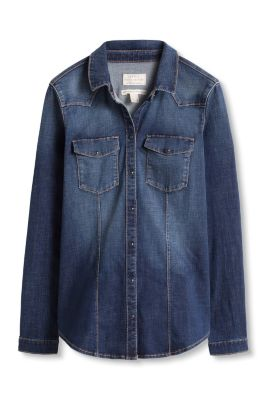 Esprit / Blouse stretch en denim innovant