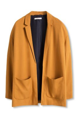 Esprit / Open blazer in textured fabric