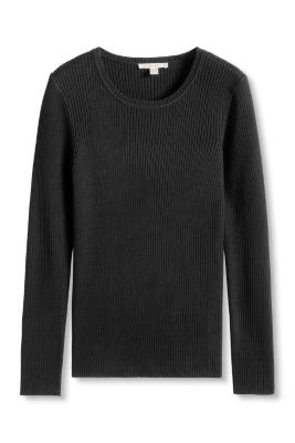 Esprit / Trendy ribbed jumper with shoulder buttons