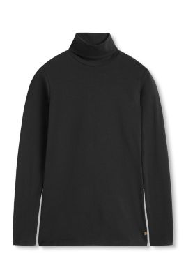 Esprit / basic polo neck in stretch cotton