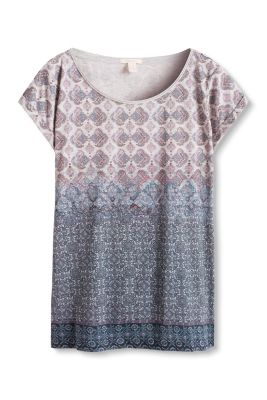 Esprit / Floaty printed T-shirt in a cotton blend