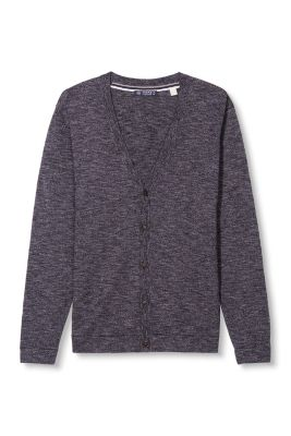 Esprit / 2-tone cardigan in pure cotton